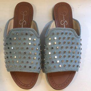 Jessica Simpson Denim studded sandals